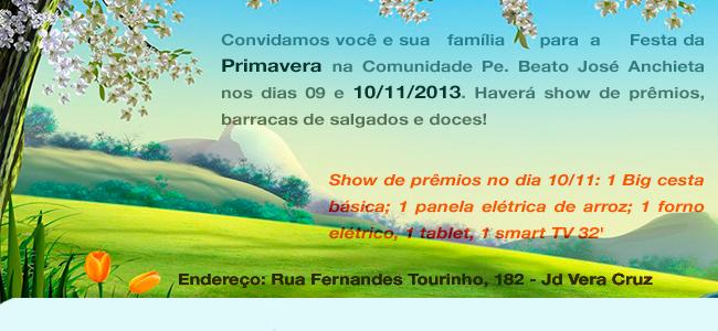 Festa de Primavera Comunidade Pe. Moreira