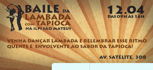 Baile de Lambada com Tapioca