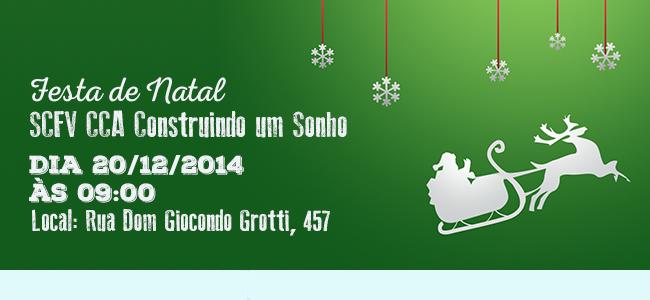 Festa de Natal SCFV CCA